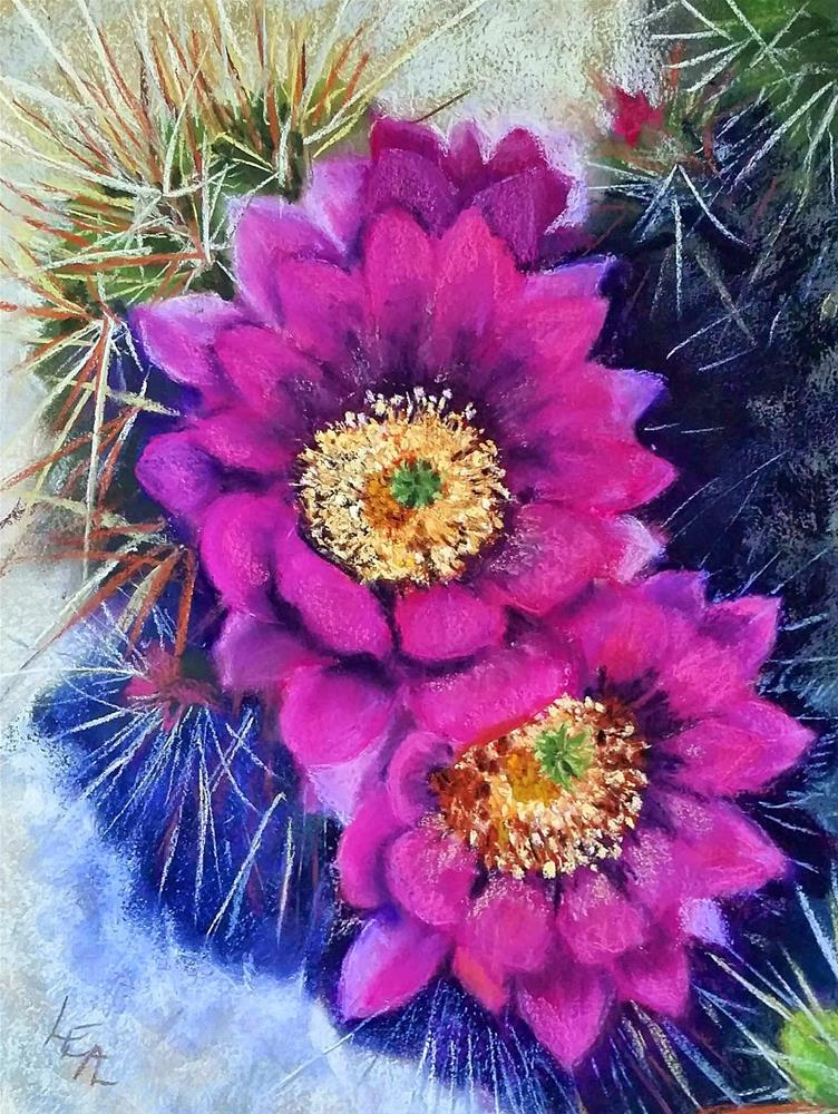 """Fuschia Blaze"" original fine art by Anna Lisa Leal"