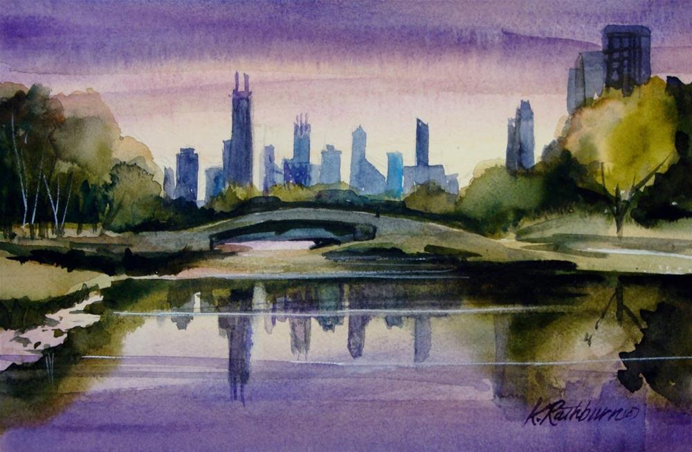 """Lincoln Park ALagoon"" original fine art by Kathy Los-Rathburn"
