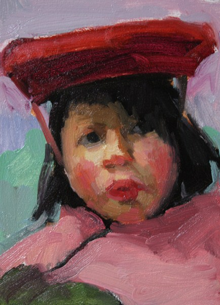 """Peruvian Child"" original fine art by Kathryn Townsend"