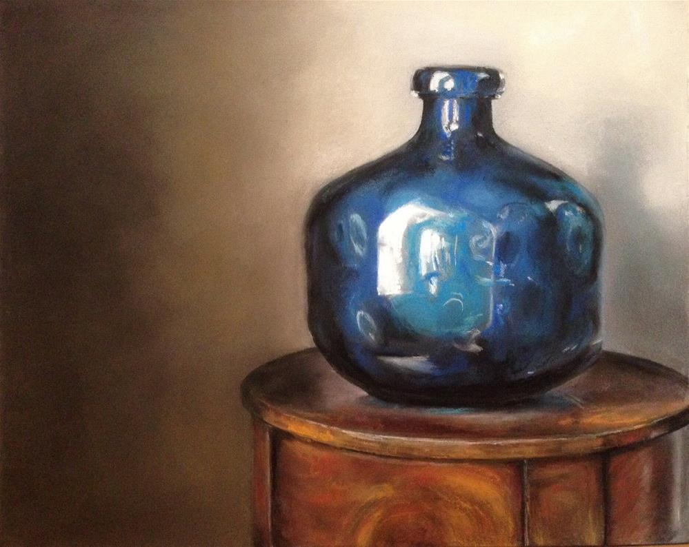 """Blue Vase By The Window"" original fine art by Cindy Gillett"