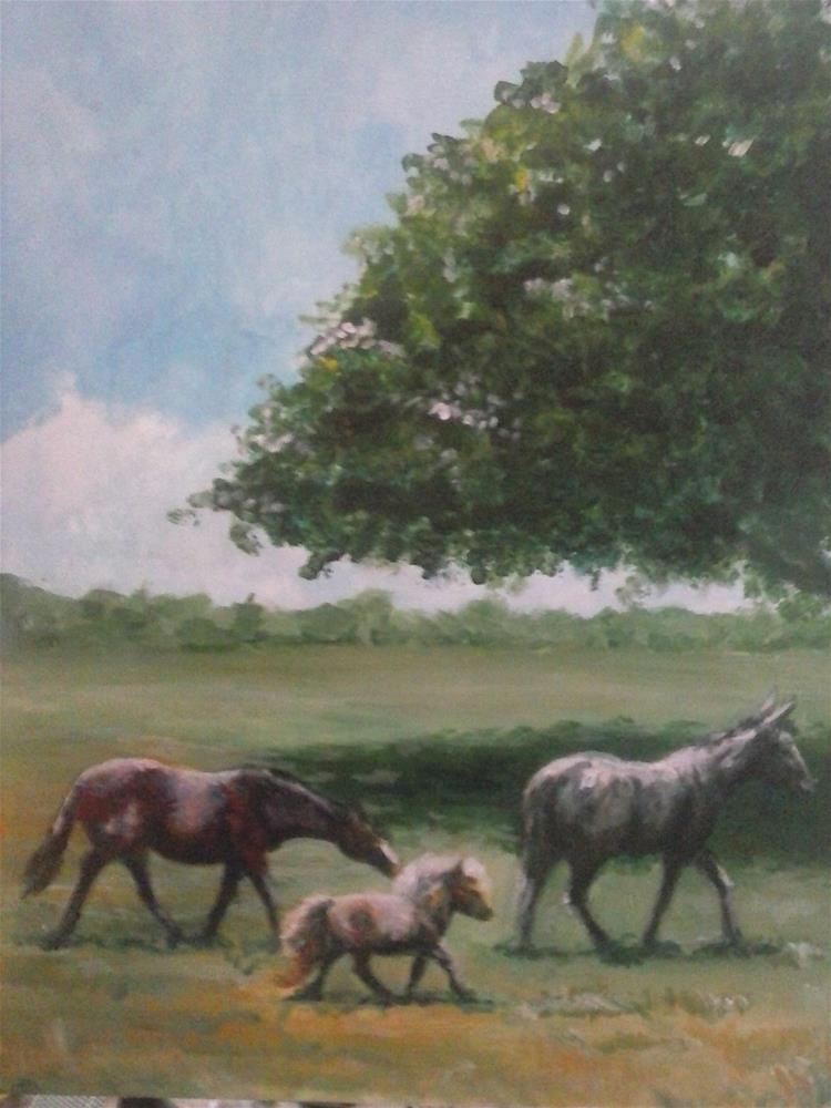 """""""Heading for Shade"""" original fine art by Kate Less-Madsen"""