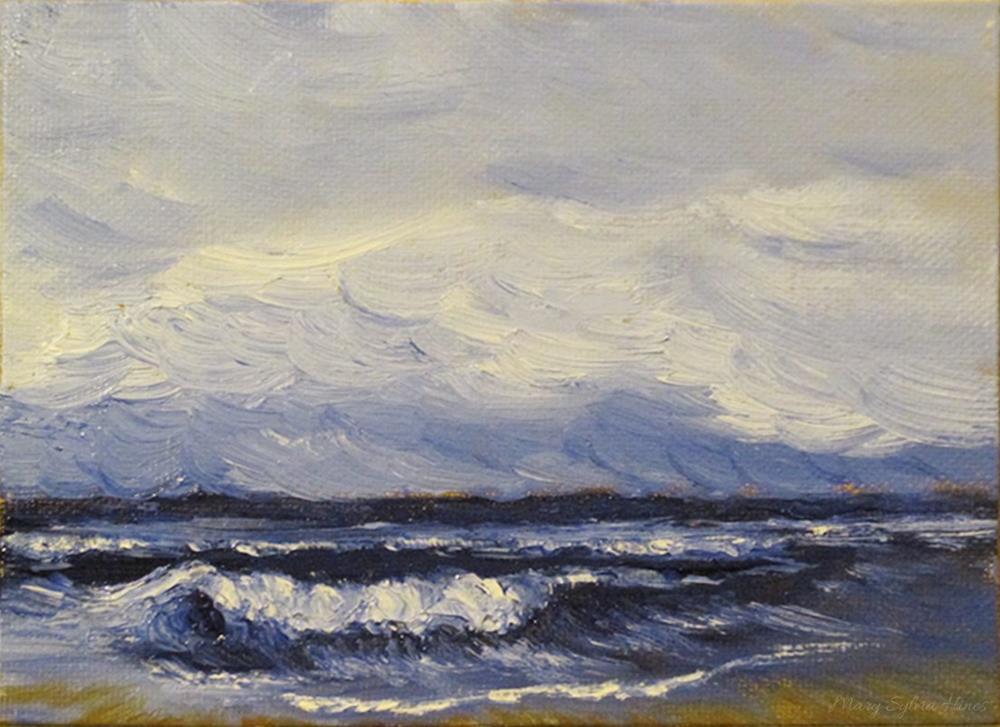 """Seascape 7"" original fine art by Mary Sylvia Hines"