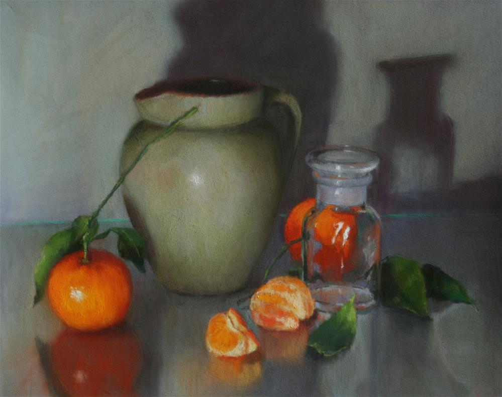 """Green Jug and citrus"" original fine art by Liz Balkwill"