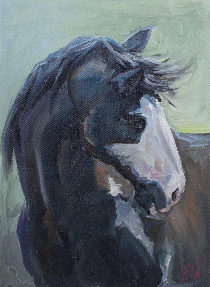 """Lively Paint"" original fine art by H.F. Wallen"
