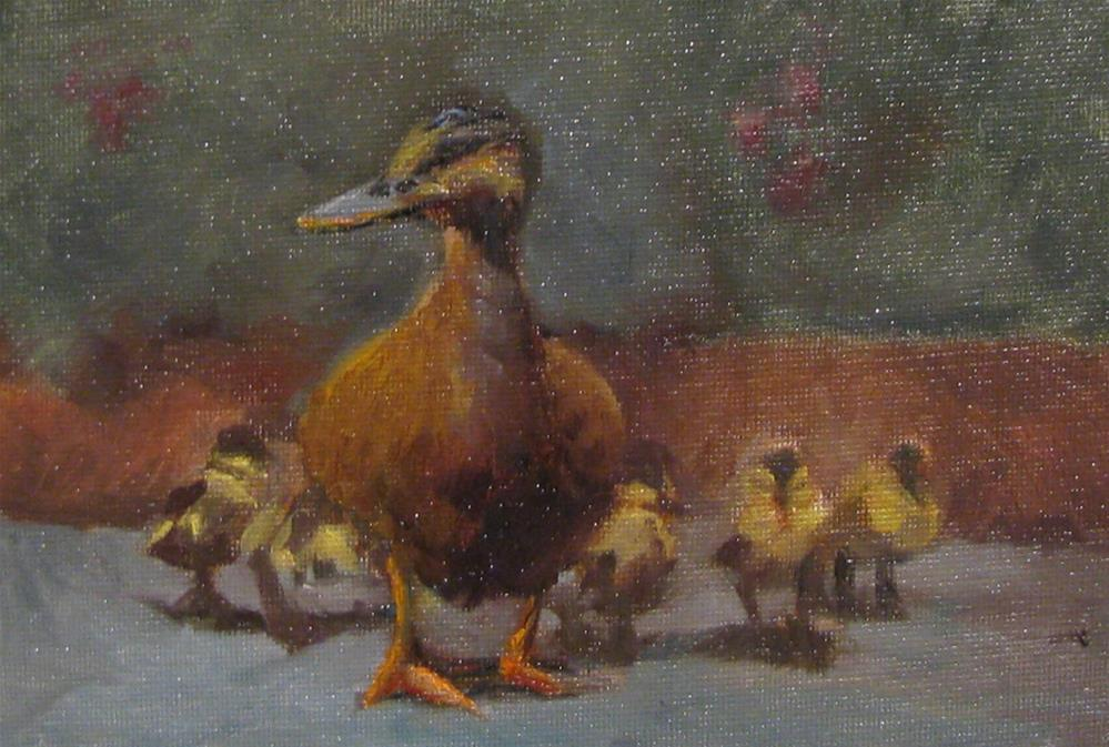 """""""all in a row"""" original fine art by tom dawson"""