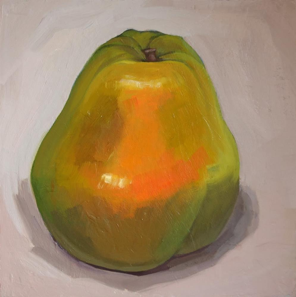"""Pear"" original fine art by Miriam Hill"