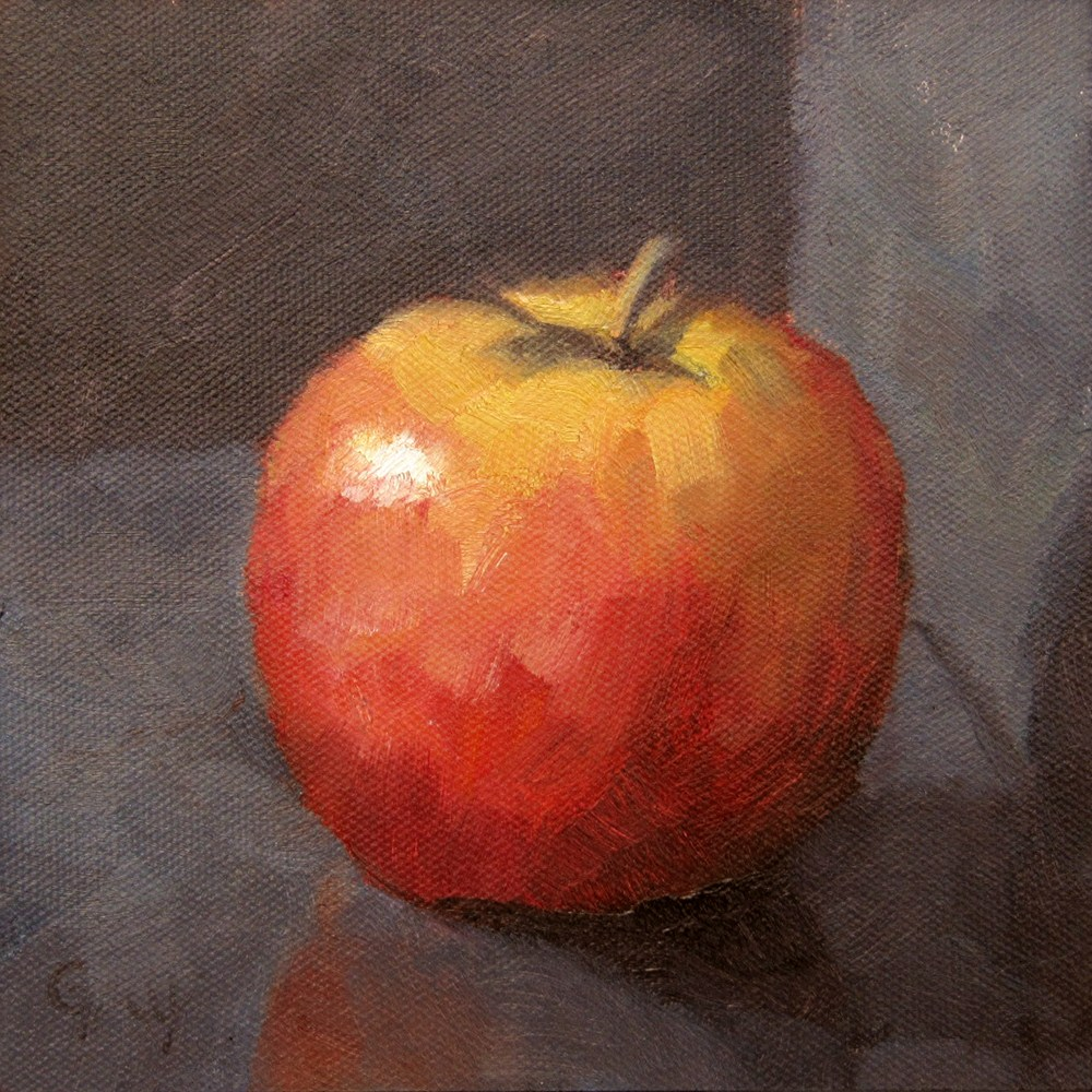 """Apple in Black"" original fine art by Naomi Gray"
