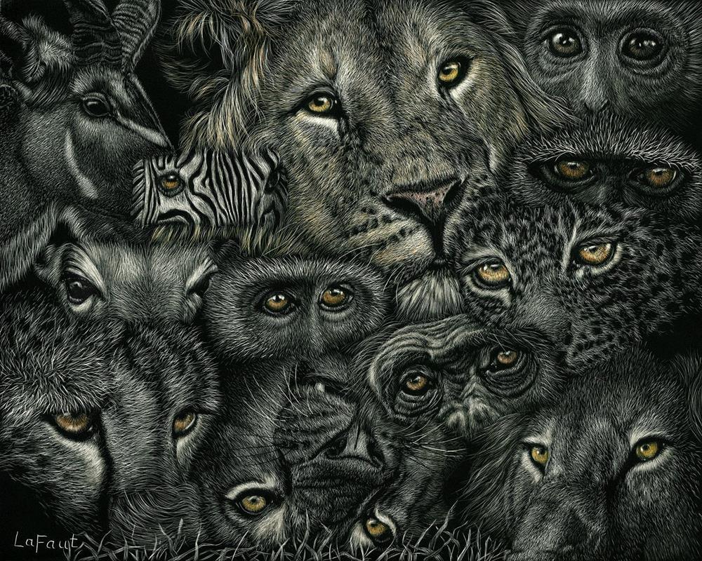 """Eye Am Watching"" original fine art by Sandra LaFaut"