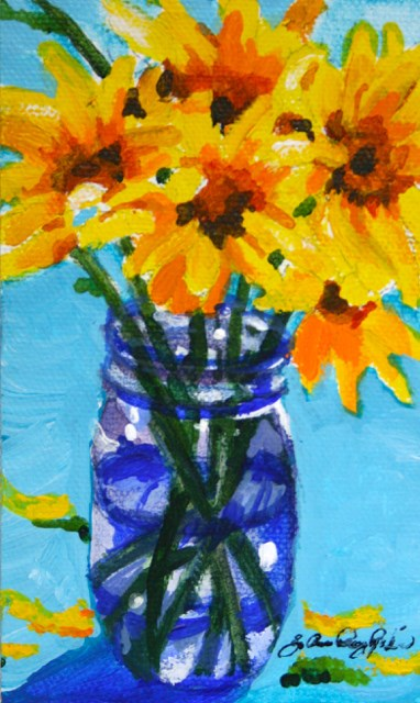 """A Jar and a Vase"" original fine art by JoAnne Perez Robinson"