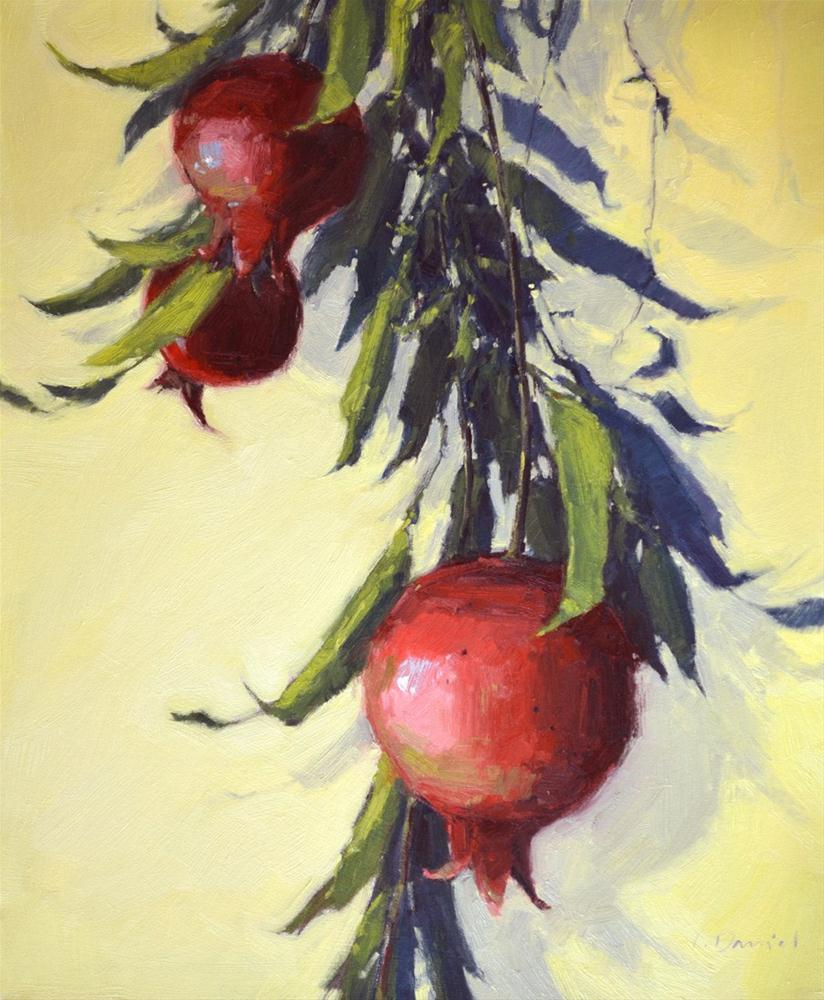 """Branches of Pomegranate"" original fine art by Laurel Daniel"