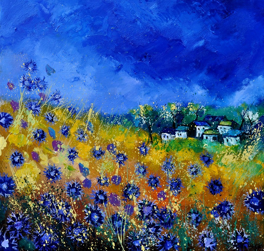 """Cornflowers 7741"" original fine art by Pol Ledent"