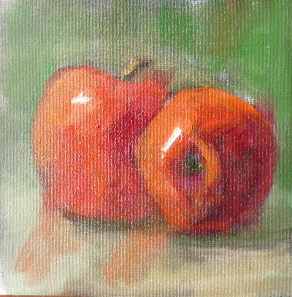 """Red Apples"" original fine art by Carol Josefiak"