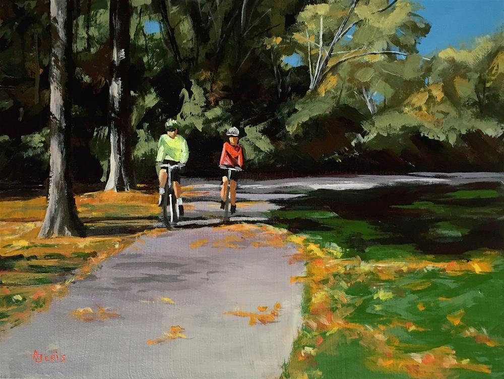 """Bike Riders"" original fine art by Andrea Jeris"