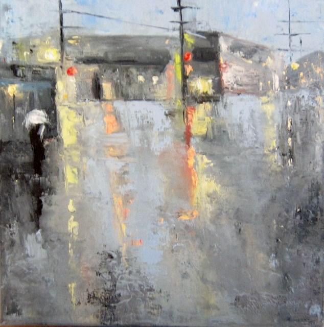 """Lights"" original fine art by Astrid Buchhammer"