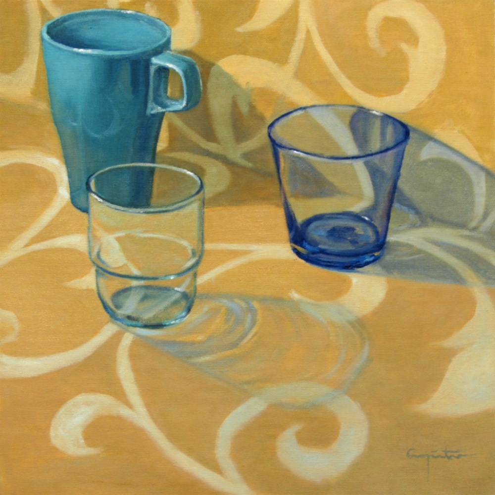 """""""Tres de azul"""" original fine art by Eduardo Carpintero"""
