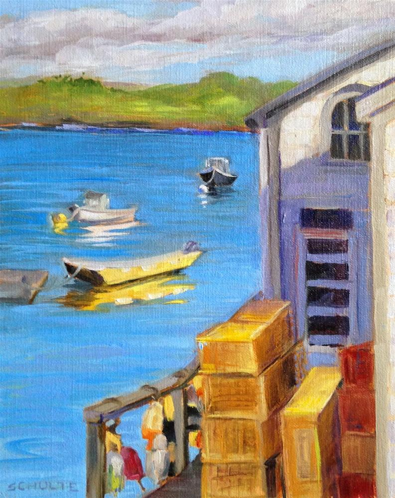 """Yellow Boat"" original fine art by Lynne Schulte"