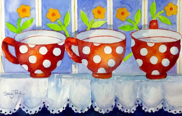"""Polka Dot"" original fine art by Suzy 'Pal' Powell"