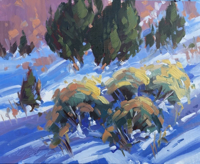 """""""Late Afternoon Shadows"""" original fine art by Mary Jabens"""