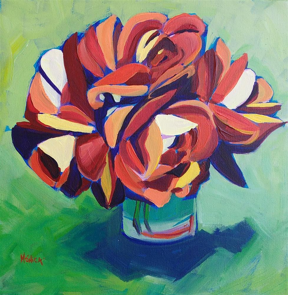 """""""Warm Roses"""" original fine art by Mónica Linares"""