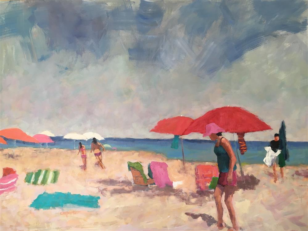 """Figurative seascape, large"" original fine art by Christine Parker"
