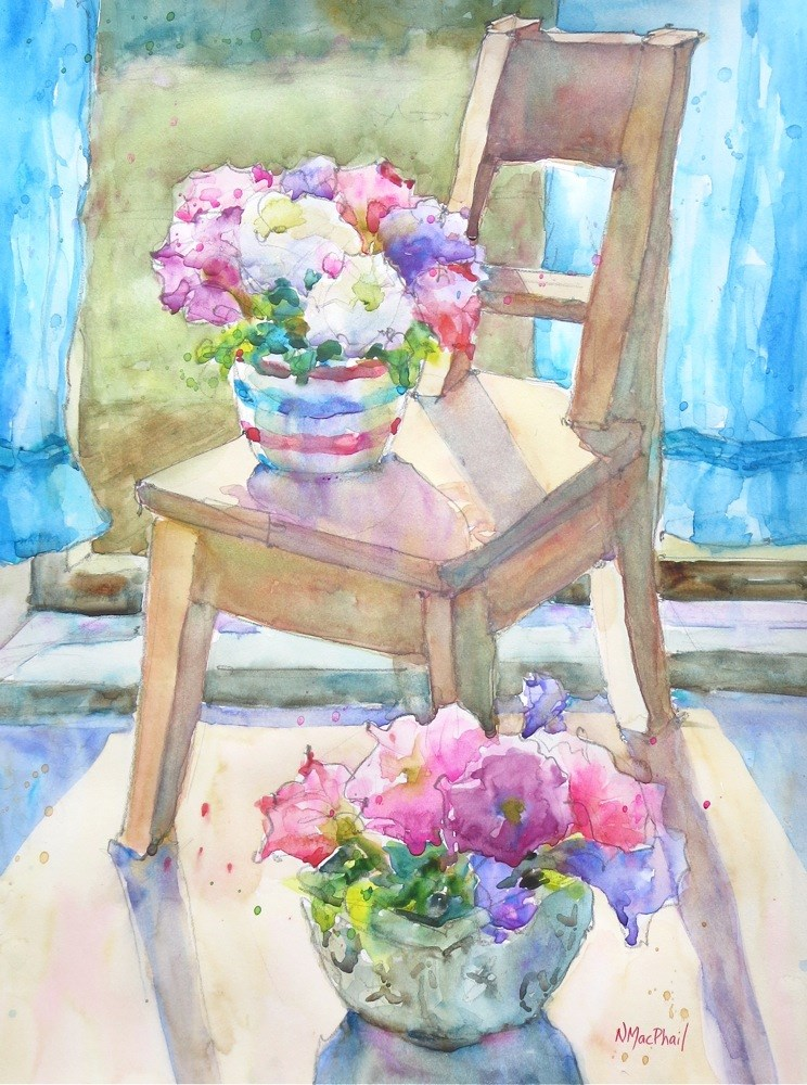 """""""casual occasion"""" original fine art by Nora MacPhail"""