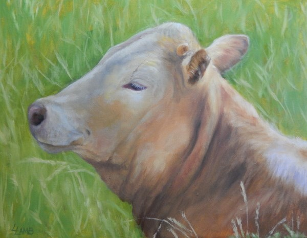 """Monroe"" original fine art by Lori L. Lamb"