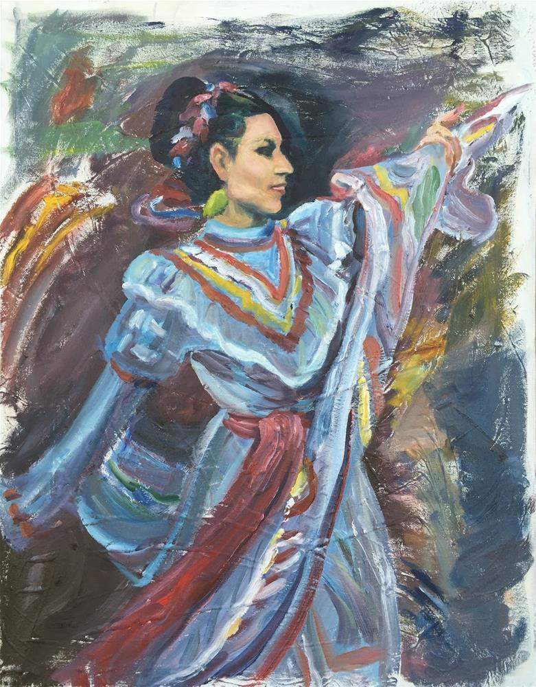 """Native American Dancer"" original fine art by Rick Blankenship"