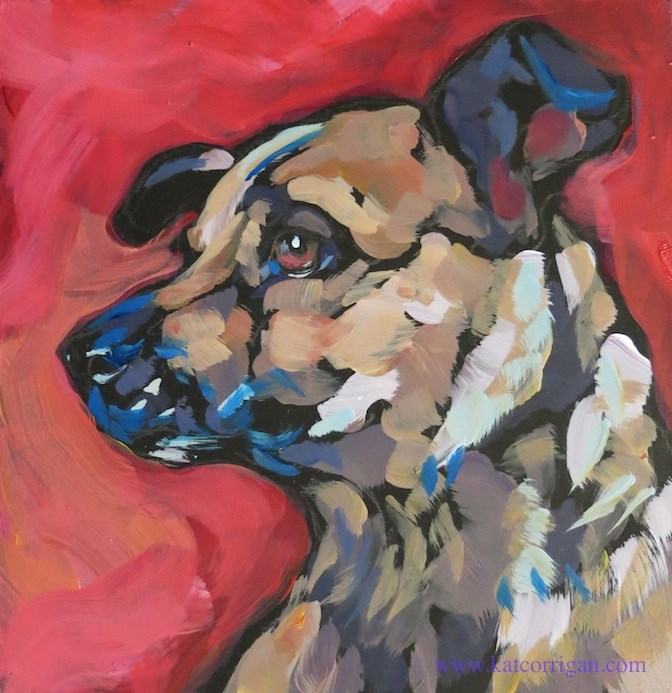 """Gus Profile #7"" original fine art by Kat Corrigan"