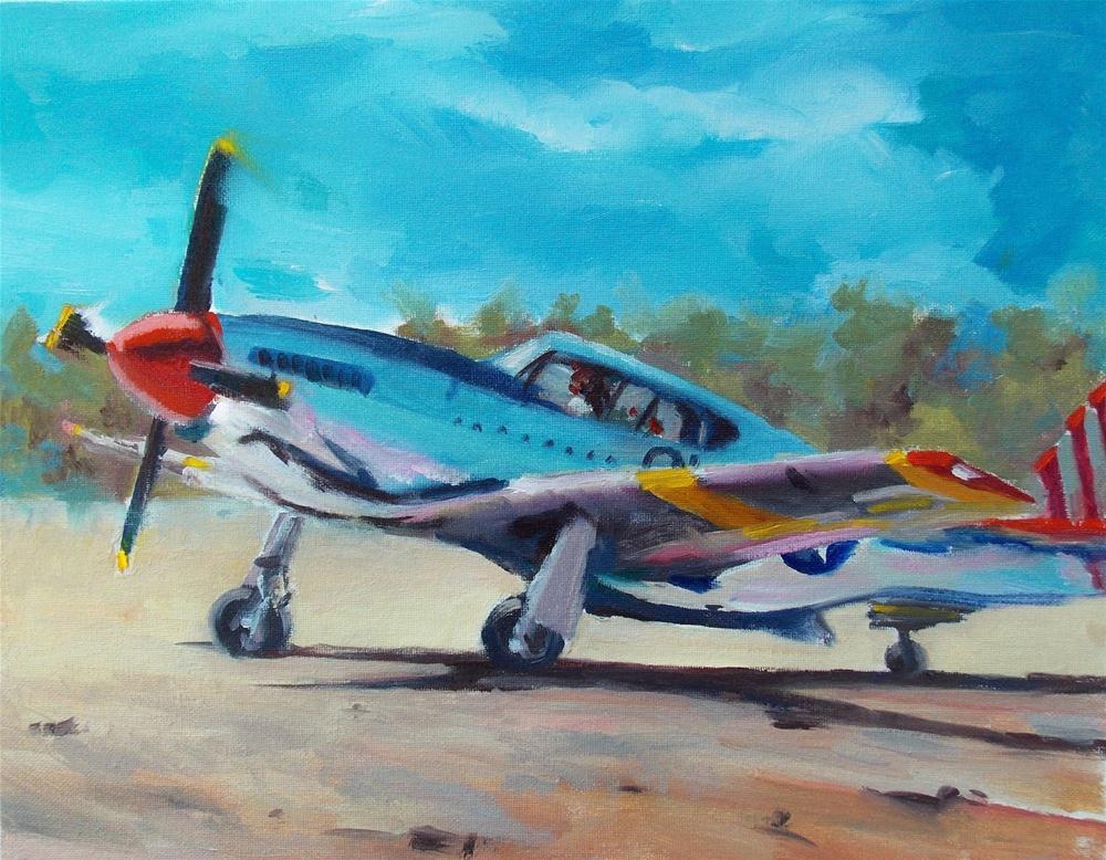 """ AIR SHOW LANDING "" original fine art by Doug Carter"
