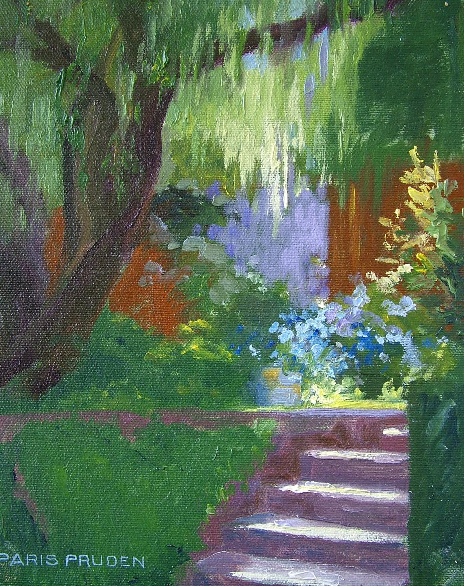 """""""Doug's Garden"""" original fine art by Nancy Paris Pruden"""