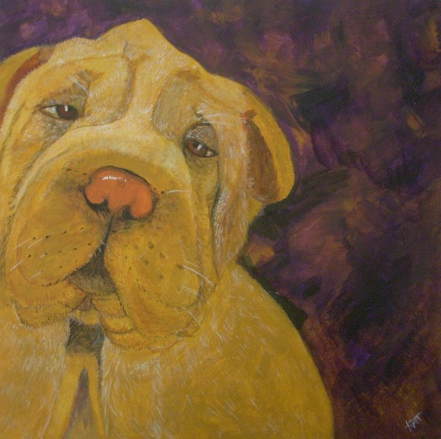 """Rex"" original fine art by Kathleen Carrier"