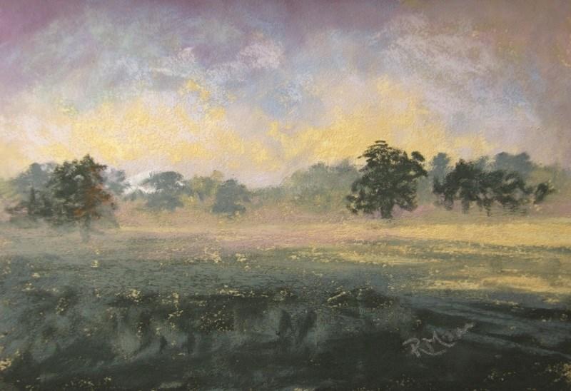 """Rainy Day"" original fine art by Ruth Mann"
