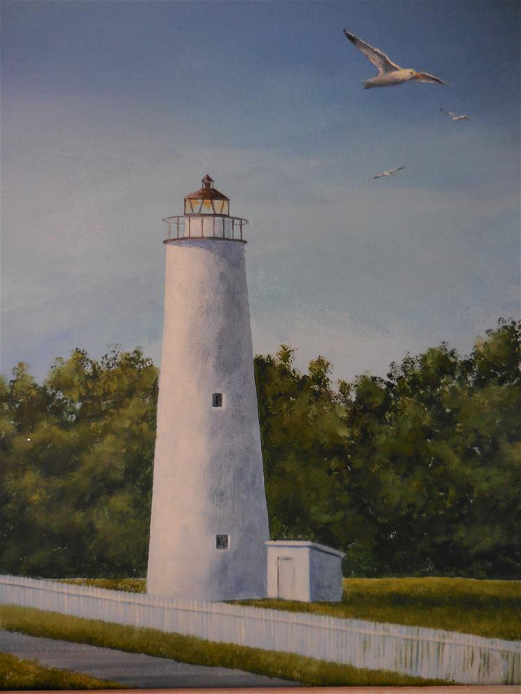 """Ocracoke Lighthouse"" original fine art by Terri Nicholson"