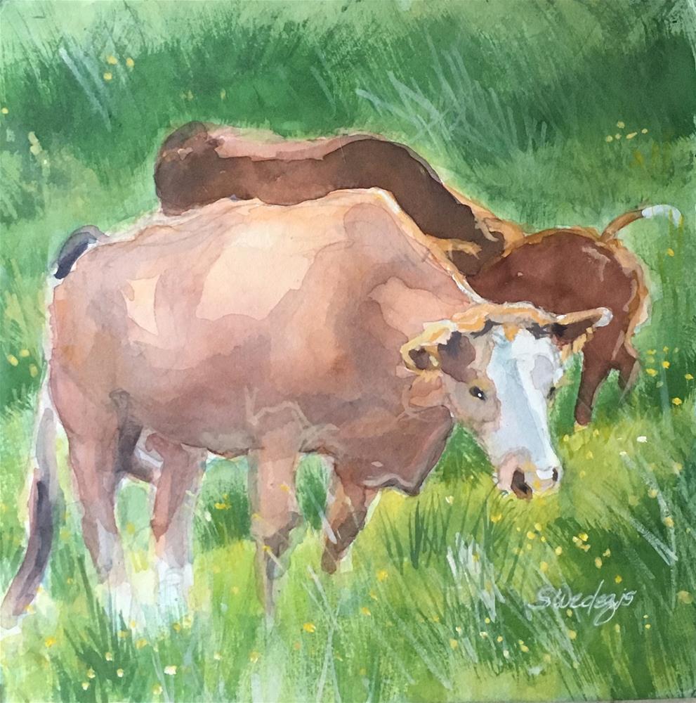 """Grazin'"" original fine art by Sheila Wedegis"