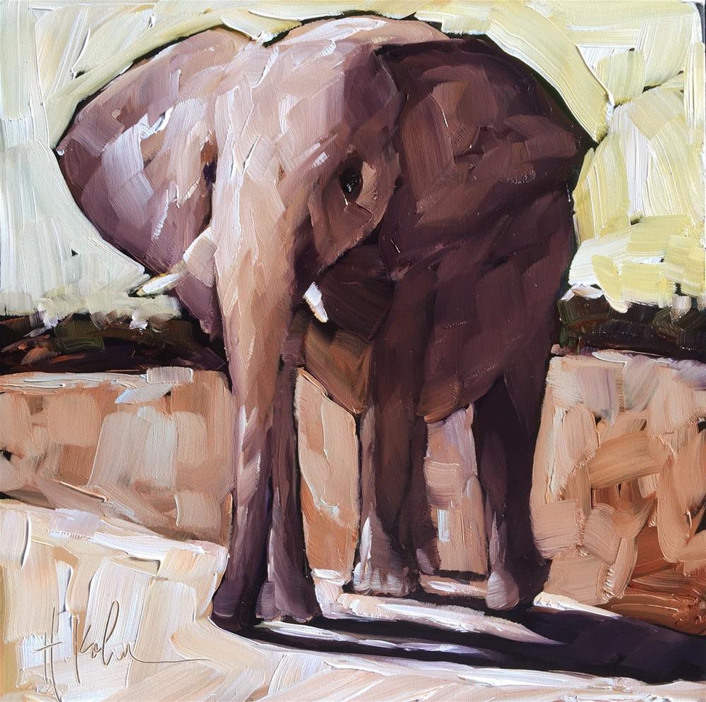 """Elephant"" original fine art by Hallie Kohn"