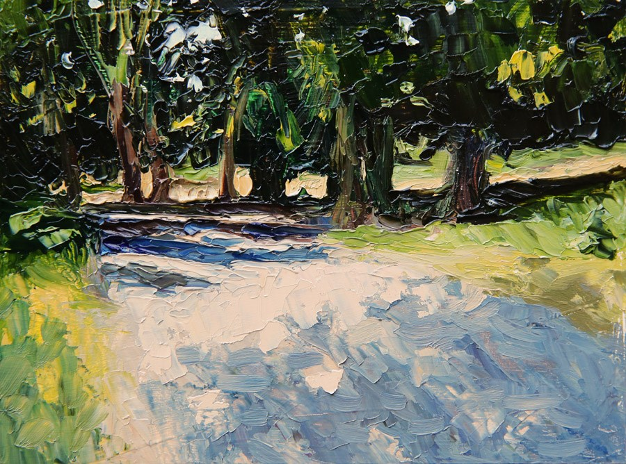 """Summer Path"" original fine art by Jethro Knight"