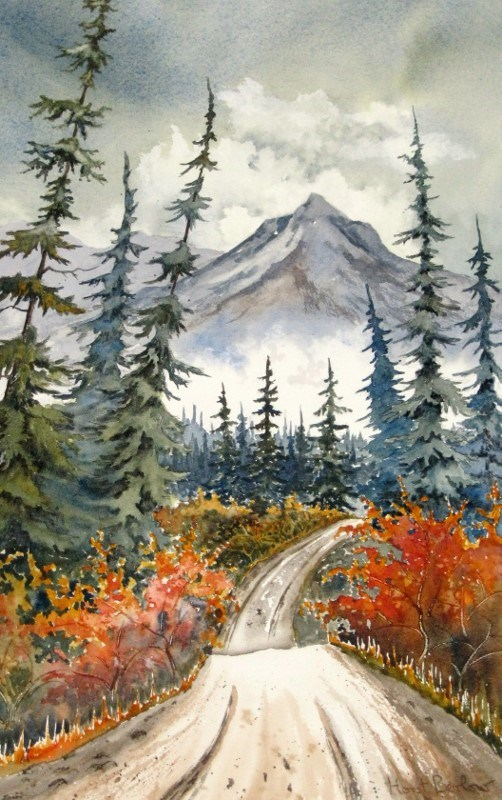 """South Canol Road"" original fine art by Horst Berlow"