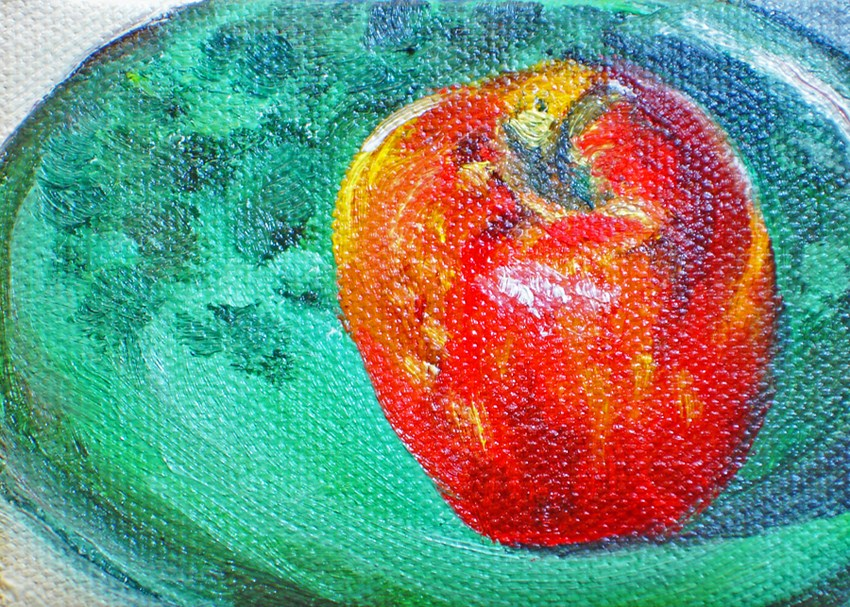 """An Apple A Day"" original fine art by Linda Lowery"