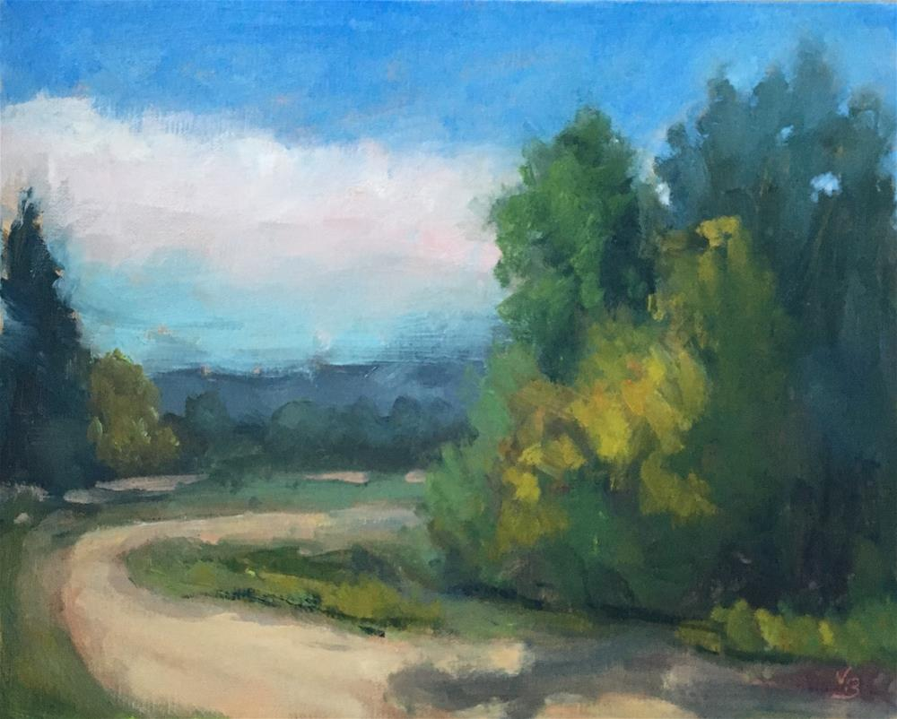 """Late Summer Path"" original fine art by Victoria  Biedron"