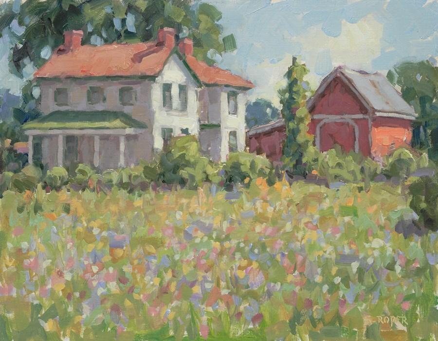 """DAY 25 #2: The Old Bigham Place"" original fine art by Stuart Roper"