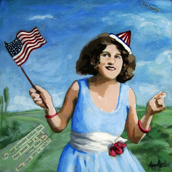 """Patriotic Pat - Life of the Party"" original fine art by Linda Apple"