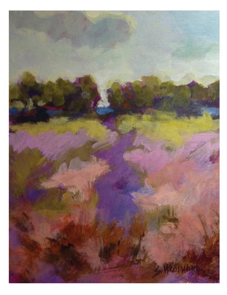 """Purple Path"" original fine art by Suzanne Woodward"