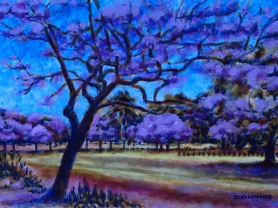 """059 PARKS & GARDENS 14"" original fine art by Trevor Downes"