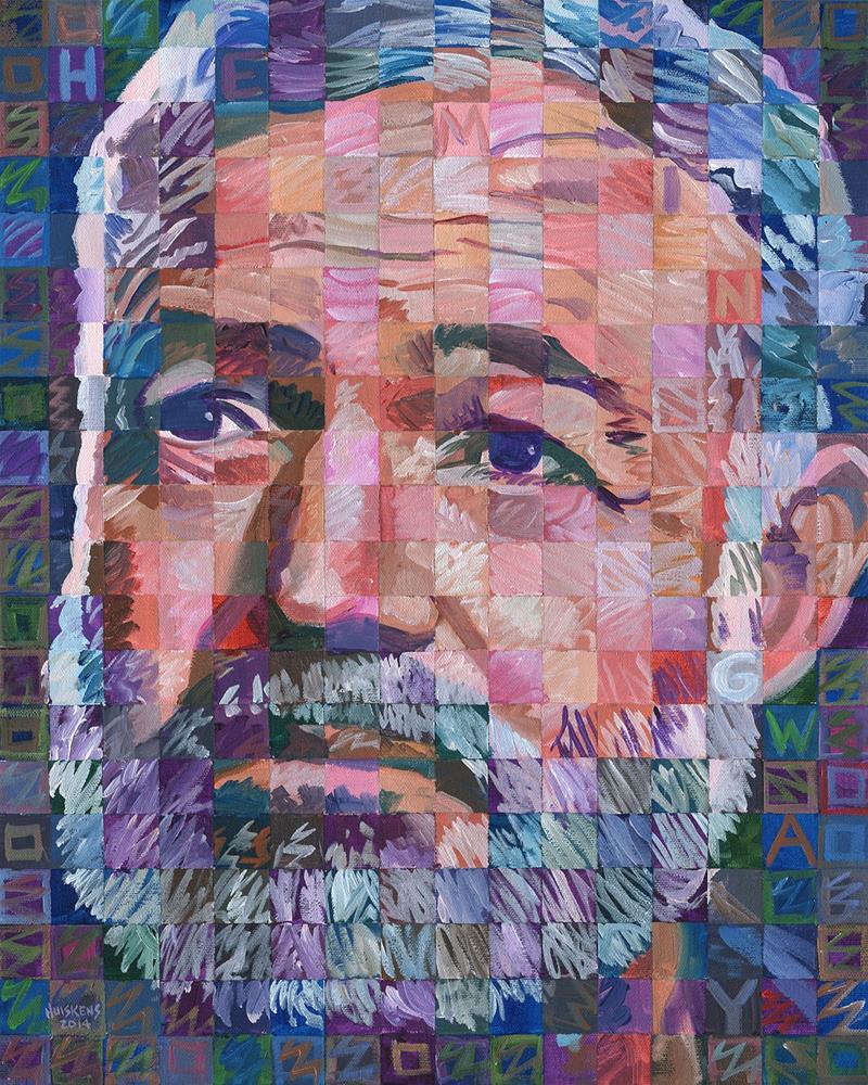 """Ernest Hemingway #2"" original fine art by Randal Huiskens"