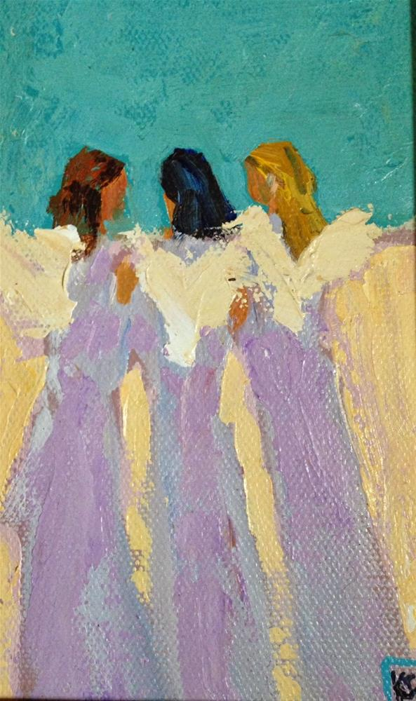 """The God Squad, 6x4 Inches, Oil by Kelley MacDonald"" original fine art by Kelley MacDonald"
