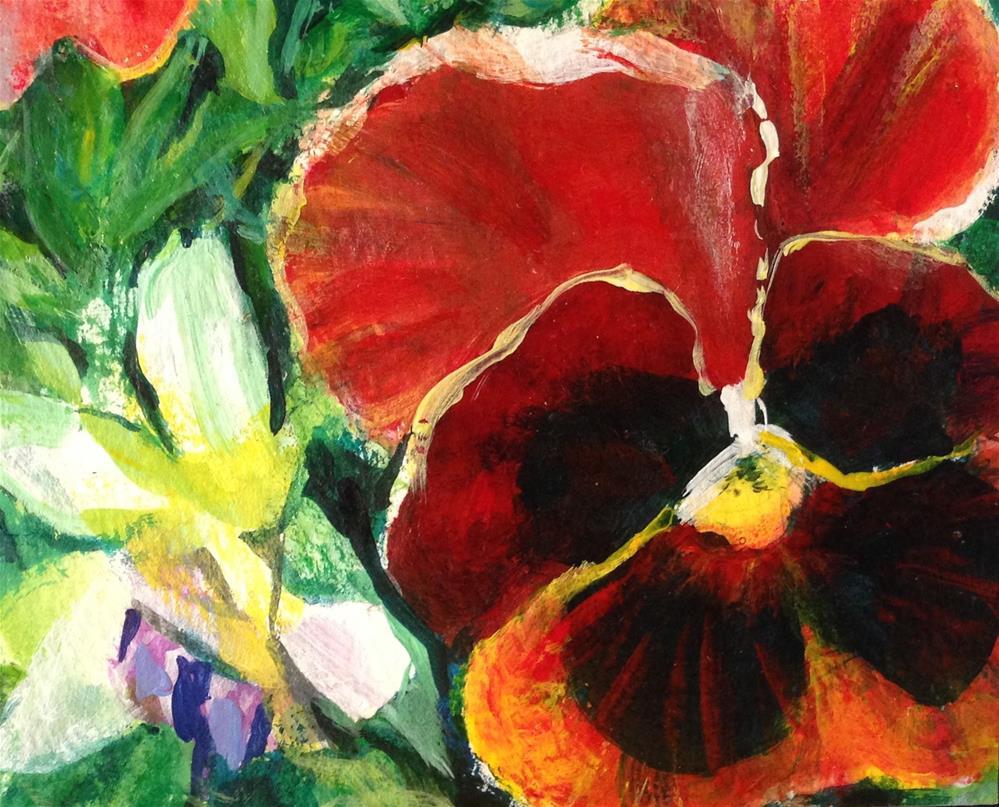 """Floral Study"" original fine art by Debbie Yacenda"