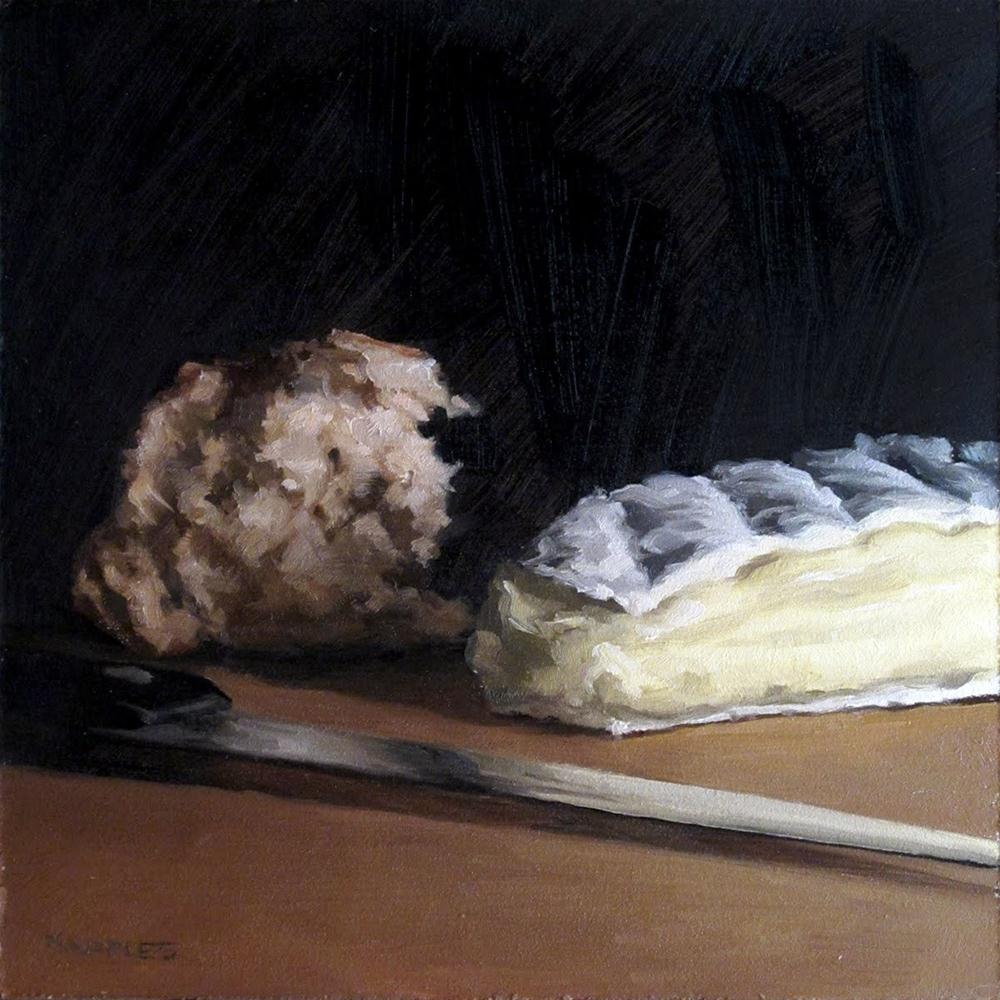 """Broken Bread with Brie"" original fine art by Michael Naples"