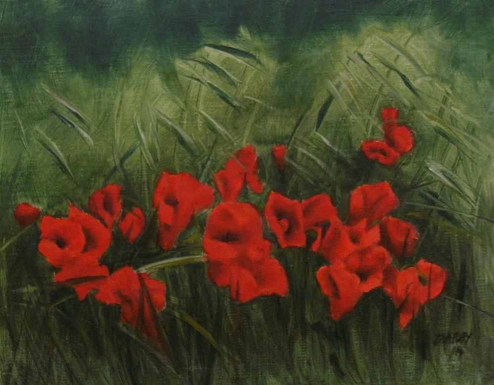 """Poppies in the Wind"" original fine art by Lynn Darby"