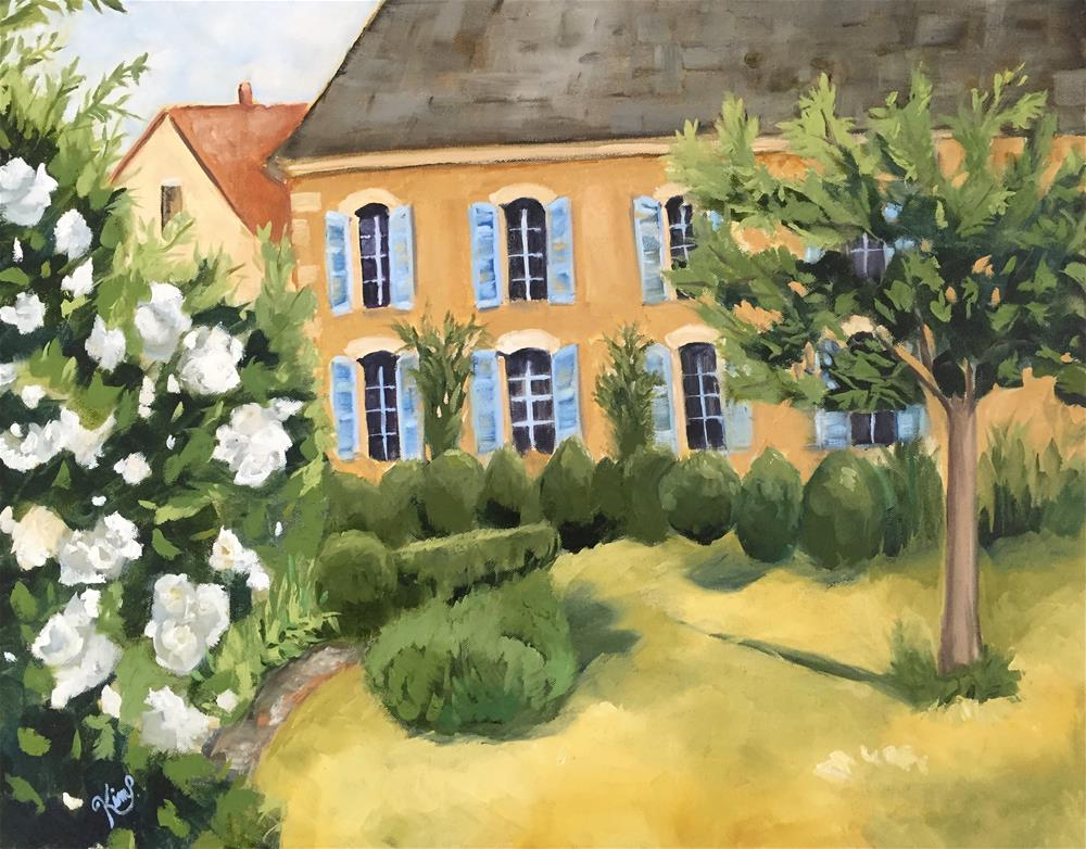 """French Garden House"" original fine art by Kim Peterson"
