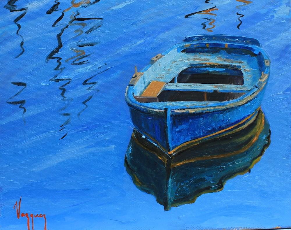 """In blue mood"" original fine art by Marco Vazquez"